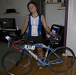 20080830 IronMan-01-Kelly and Fu (her bike)
